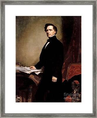 Franklin Pierce Framed Print by GPA Healy