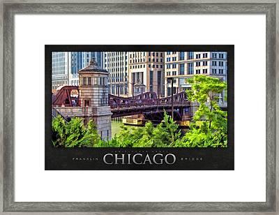 Franklin Street Bridge Poster Framed Print by Christopher Arndt