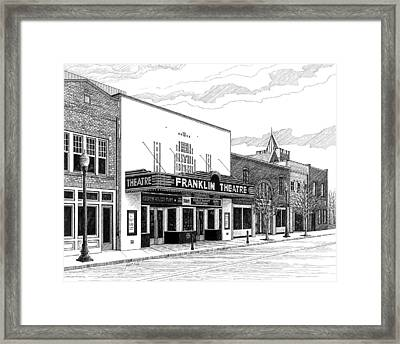 Franklin Theatre In Franklin Tn Framed Print by Janet King