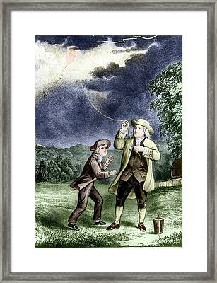 Franklin's Lightning Experiment Framed Print by Us Department Of Energy