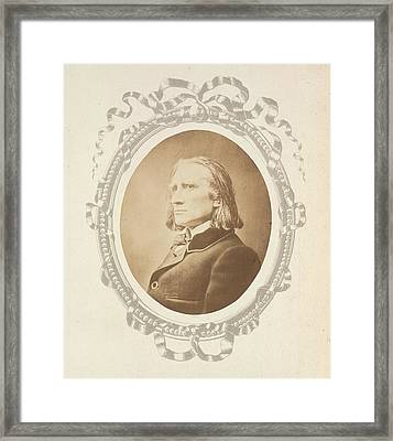 Franz Liszt Framed Print by British Library