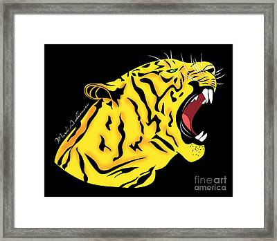 Freak Tiger  Framed Print by Mark Ashkenazi