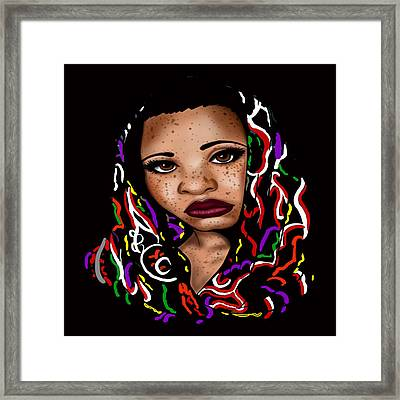 Freckled Nubian Queen Framed Print by Respect the Queen