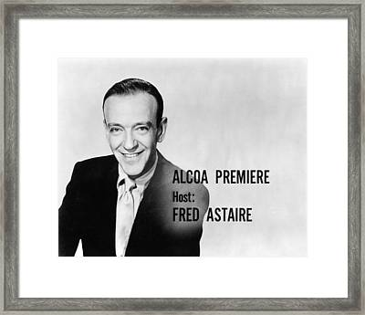 Fred Astaire In Alcoa Premiere  Framed Print by Silver Screen