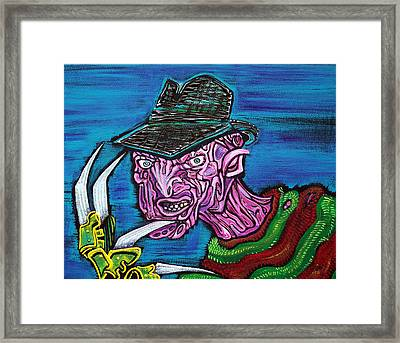 Freddy's Coming For You Framed Print by Laura Barbosa