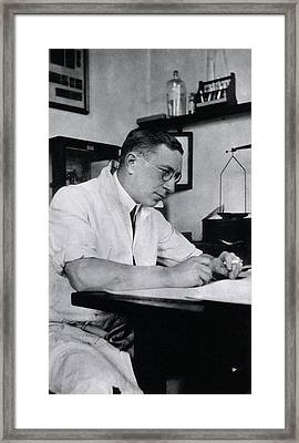 Frederick Banting Framed Print by National Library Of Medicine