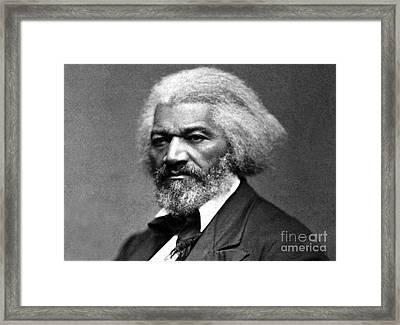 Frederick Douglass Born Slave Circa 1879 Framed Print by David Call