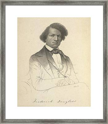 Frederick Douglass Framed Print by British Library