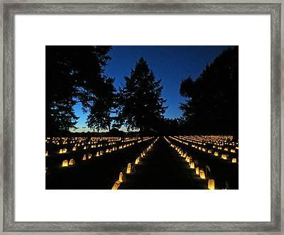 Fredericksburg Luminaria Framed Print by Penny Parrish