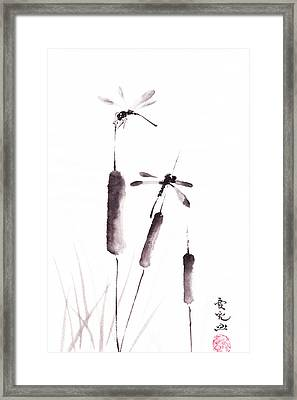 Free As The Dragonflies Framed Print by Oiyee At Oystudio