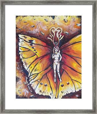 Free As The Flame Framed Print by Shana Rowe Jackson