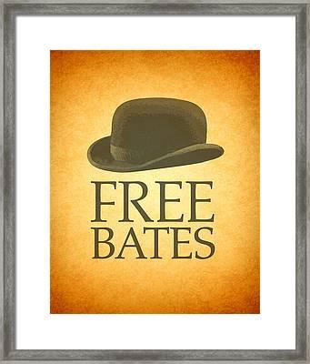 Free Bates Framed Print by Design Turnpike