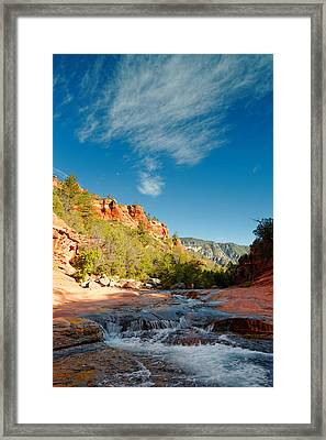 Free Flow At Oak Creek Framed Print by Silvio Ligutti