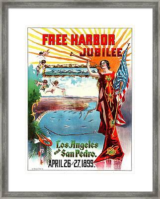 Free Harbor Jubilee 1899 Framed Print by Padre Art