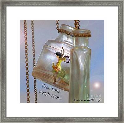 Free Your Imagination Framed Print by Bobbie S Richardson