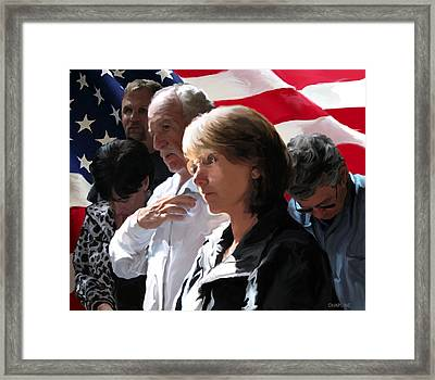 Freedom Framed Print by Curtis Chapline