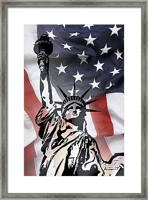 Freedom For Citizens Framed Print by Daniel Hagerman