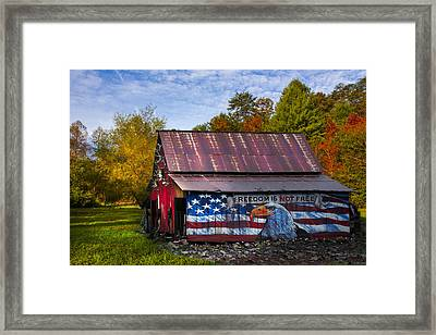 Freedom Is Not Free Framed Print by Debra and Dave Vanderlaan
