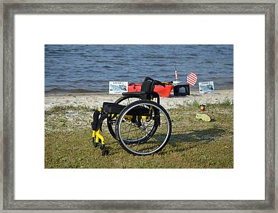 Freedom Isn't Free Framed Print by Jeff at JSJ Photography