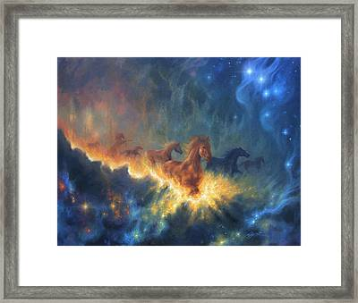 Freedom Of Dreaming Framed Print by Lucy West