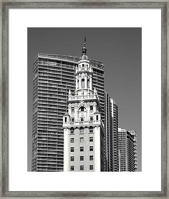 Freedom Tower Framed Print by Rudy Umans