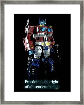Freedom Framed Print by Xaviercal