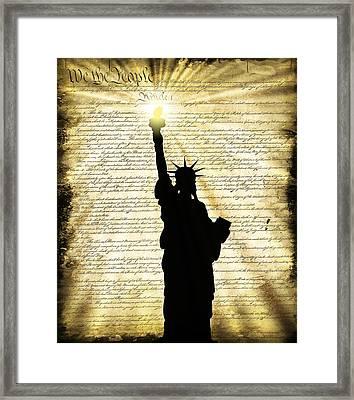 Freedoms Light Framed Print by Daniel Hagerman