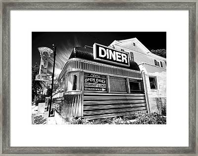 Freehold Diner Framed Print by John Rizzuto