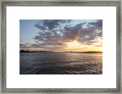 Freeport Cloudy Summertime Sunset Framed Print by John Telfer
