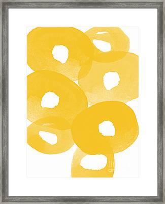 Freesia Splash Framed Print by Linda Woods