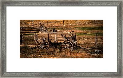 Freight Wagon Framed Print by Robert Bales