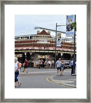 Fremantle Market Place Framed Print by Bobby Mandal