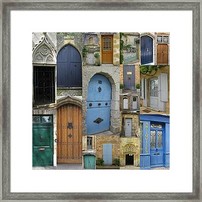 French And Belgian Doors Framed Print by Cathy Jacobs