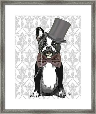 French Bulldog Monsieur Bulldog Framed Print by Kelly McLaughlan