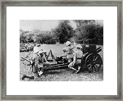 French Cannoniers In Indochina Framed Print by Underwood Archives