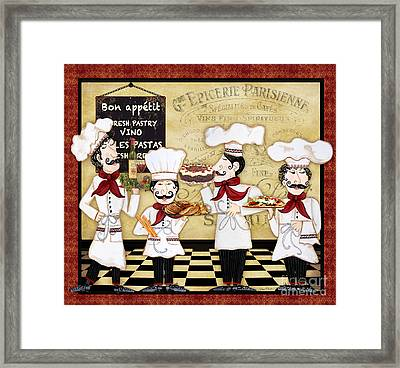 French Chefs-bon Appetit Framed Print by Jean Plout