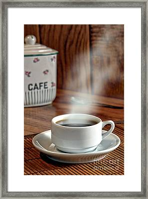 French Coffee Framed Print by Olivier Le Queinec