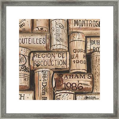 French Corks Framed Print by Debbie DeWitt