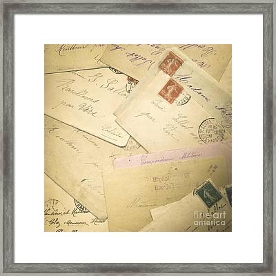 French Correspondence From Ww1 #2 Framed Print by Jan Bickerton