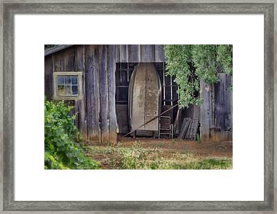 Countryside Barn Framed Print by Joan Carroll
