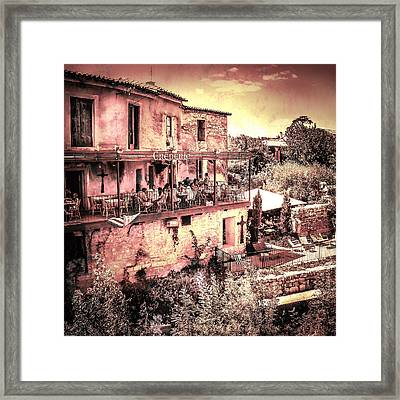 French Creperie Framed Print by Catherine Arnas