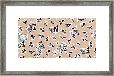 French Fabrics First Half Of The Nineteenth Century 1800 Framed Print by Liszt Collection