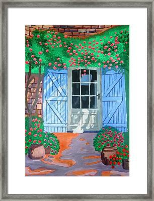French Farm Yard Framed Print by Magdalena Frohnsdorff