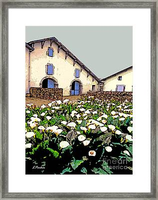 French Farmhouse In The Pyrenees Framed Print by Linda  Parker
