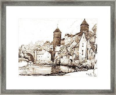 French Fortified Town 1922 Framed Print by Padre Art