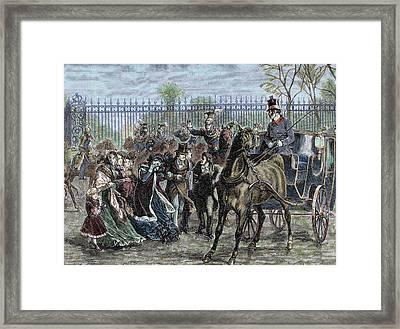 French Liberal Revolution (february 1848 Framed Print by Prisma Archivo