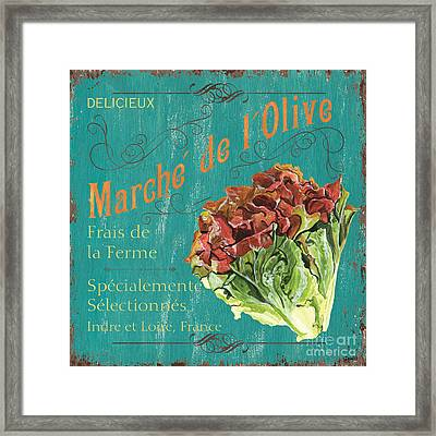 French Market Sign 3 Framed Print by Debbie DeWitt
