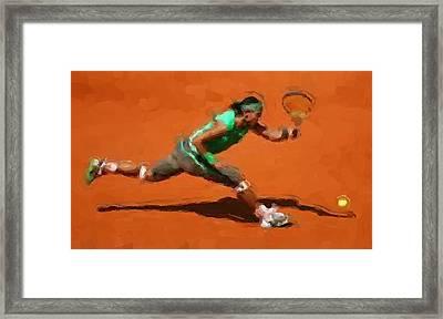 French Open Return Framed Print by Brian Menasco