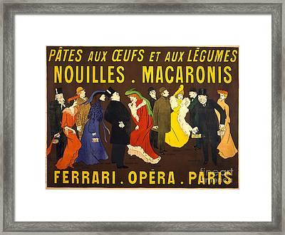 French Pasta Advertisement 1901 Framed Print by Padre Art