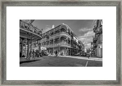 French Quarter Afternoon Bw Framed Print by Steve Harrington